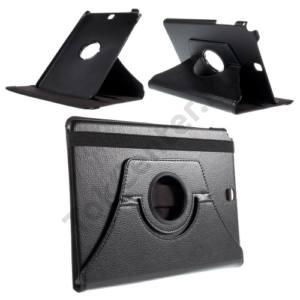 Samsung Galaxy Tab A 9.7 (SM-T550) WIFI Tok álló, bőr (FLIP, asztali tartó funkció, 360°-ban forgatható) FEKETE