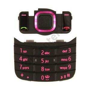 Nokia 6600 Slide Készülék billentyűzet (2db-os készlet) MAGENTA
