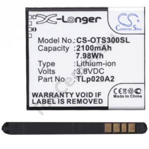Alcatel Pop S3 (OT-5050Y) Akku 2100 mAh LI-ION (CAC2000003C3/TLP020A2 kompatibilis)