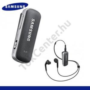 BLUETOOTH james bond SZTEREO (bőr borítás, csiptethető, vezetékes fülhallgató, 3.5 mm, BT adapter, Level Link) FEKETE