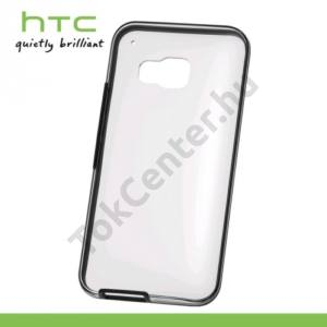 HTC One 2015 (M9) Műanyag telefonvédő (FEKETE keret) ÁTLÁTSZÓ