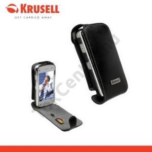 Nokia N97 KRUSELL ORBIT FLEX álló bőrtok (övcsipesz) FEKETE/SZÜRKE