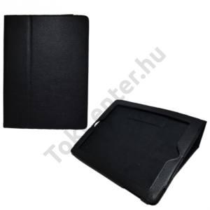 Apple IPAD (3rd Generation) Tok álló, bőr (FLIP, mágneses, asztali tartó funkció) FEKETE