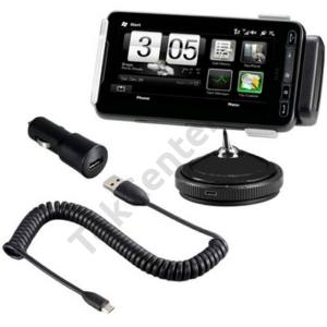 HTC HD 2 (T8585) Kezdőcsomag (tapadókorongos tartó + szivartöltő + tartókonzol)