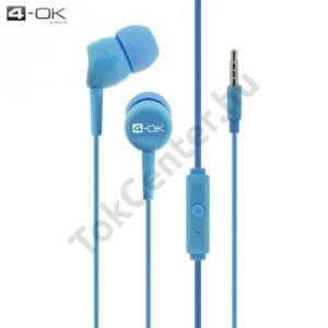 4-OK james bond SZTEREO (3.5 mm, felvevő gomb, mikrofon) KÉK