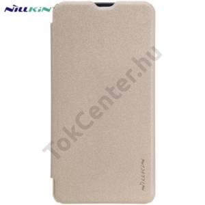 Microsoft Lumia 550 NILLKIN SPARKLE műanyag telefonvédő (mikroszálas bőr flip, oldalra nyíló) ARANY