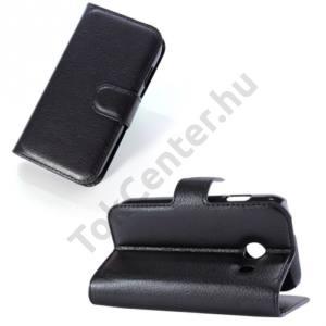 Samsung Galaxy Ace Style (SM-G310) Tok álló, bőr (FLIP, mágneses, oldalra nyíló, bankkártya tartó, asztali tartó funkció) FEKETE