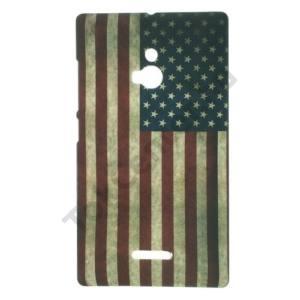 Nokia XL Műanyag telefonvédő (zászlóminta) USA