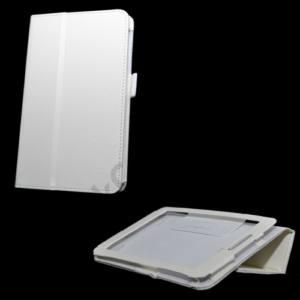 LG G Pad 7.0 (V400) Tok álló, bőr (FLIP, oldalra nyíló, asztali tartó funkció) FEHÉR