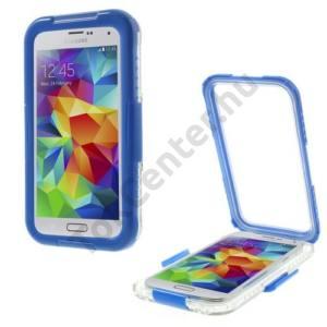 Samsung Galaxy S V. (SM-G900) Vízhatlan/vízálló tok, AQUA (nyakba akasztható) KÉK