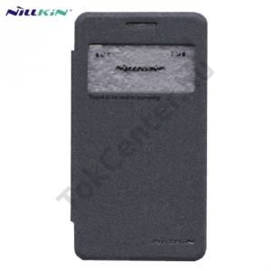Samsung Galaxy Core 2 (SM-G355) NILLKIN SPARKLE műanyag telefonvédő (mikroszálas bőr flip, oldalra nyíló, hívószámkijelzés, S-View Cover) FEKETE