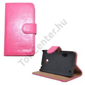 Nokia Lumia 630 Tok álló, bőr (FLIP, mágneses, oldalra nyíló, bankkártya tartó, asztali tartó funkció) MAGENTA