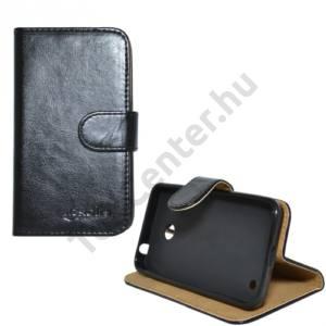 Nokia Lumia 630 Tok álló, bőr (FLIP, mágneses, oldalra nyíló, bankkártya tartó, asztali tartó funkció) FEKETE