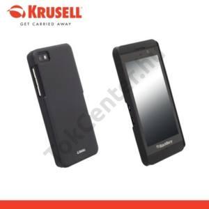 BlackBerry Z10 KRUSELL ColorCover műanyag telefonvédő METÁLFEKETE