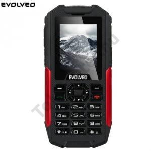 Evolveo Strongphone X3 MOBILTELEFON készülék EVOLVEO Strongphone X3 (Fekete/Piros) 2SIM / DUAL SIM két kártya,csepp,por és ütésálló készülék