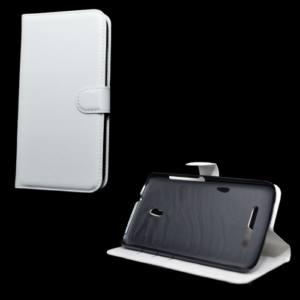 Alcatel Pop S9 (OT-7050) Tok álló, bőr (FLIP, mágneses, oldalra nyíló, bankkártya  tartó, asztali tartó funkció) FEHÉR