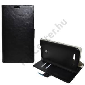Alcatel Pop S9 (OT-7050) Tok álló, bőr (FLIP, mágneses, oldalra nyíló, bankkártya  tartó, asztali tartó funkció) FEKETE