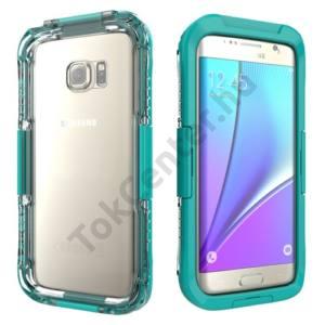 Samsung Galaxy S7 EDGE (SM-G935) Vízhatlan/vízálló tok, AQUA (10 méterig, IP68) CYAN
