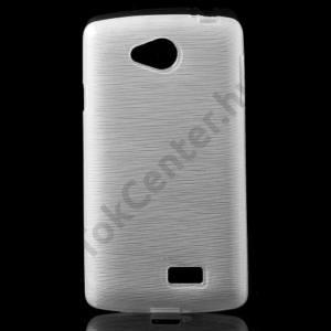 LG F60 (D390N) Telefonvédő gumi / szilikon (szálcsiszolt mintázat) FEHÉR