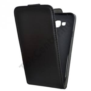 Samsung Galaxy E7 (SM-E700) Tok álló, bőr (FLIP, mágneses) FEKETE