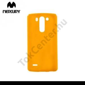 LG G3 S (D722) MERCURY Goospery telefonvédő gumi / szilikon (csillámporos) NARANCS