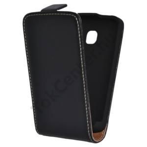 LG Optimus L1 II. (E410) Tok álló, bőr (FLIP, mágneses) FEKETE