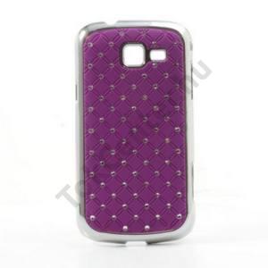 Samsung Galaxy Trend II (GT-S7570) Műanyag telefonvédő (strasszkő) LILA