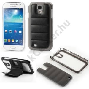 Samsung Galaxy S IV. (GT-I9500) Műanyag telefonvédő (levehető gumi / szilikon hátlappal) FEKETE/FEKETE