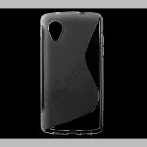 LG Nexus 5 (D821) Telefonvédő gumi / szilikon (S-line) ÁTLÁTSZÓ
