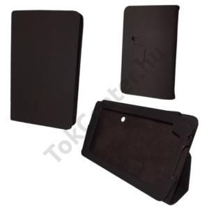 Huawei Ideos S7 Slim Tok álló, bőr (FLIP, REJTETT mágneses, asztali tartó funkció) BARNA