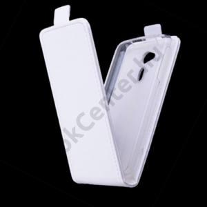 Acer Liquid Z4 Tok álló, bőr (FLIP, mágneses) FEHÉR