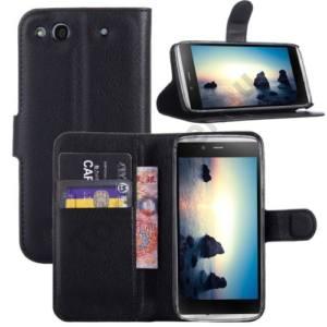 Alcatel Idol Alpha (OT-6032X) Tok álló, bőr (FLIP, mágneses, oldalra nyíló, bankkártya  tartó, asztali tartó funkció) FEKETE