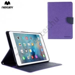 Apple IPAD mini 4 MERCURY Goospery tok álló, bőr (FLIP, mágneses, oldalra nyíló, bankkártya tartó, asztali tartó funkció) LILA