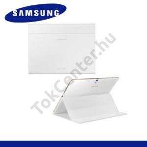Samsung Galaxy Tab S 10.5 LTE (SM-T805) Műanyag telefonvédő (FLIP, oldalra nyíló, asztali tartó funkció) FEHÉR