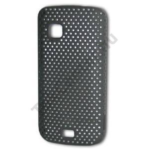 Nokia C5-03 Műanyag telefonvédő lyukacsos FEKETE