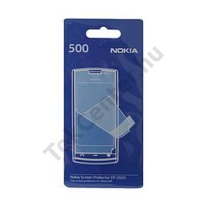 Nokia 500  Képernyővédő fólia törlőkendővel (2 db-os) CLEAR