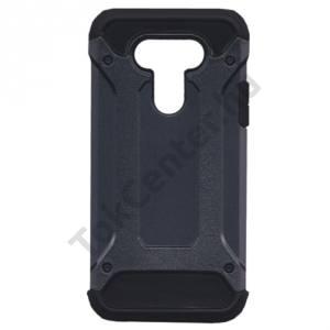 LG G5 (H850) Defender műanyag telefonvédő (közepesen ütésálló, gumi / szilikon belső, fémhatás) SÖTÉTKÉK