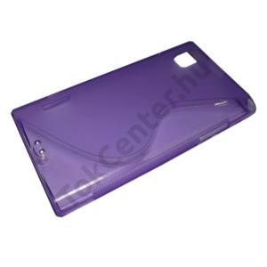 LG Prada 3.0 (P940) Telefonvédő gumi / szilikon (S-line) LILA