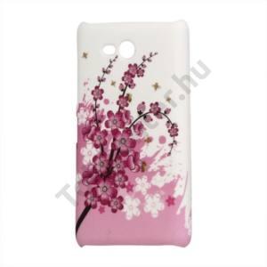 Nokia Lumia 820 Műanyag telefonvédő (virágmintás) FEHÉR