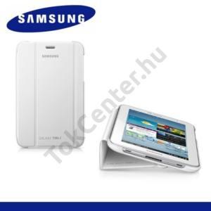 GYÁRI Samsung Galaxy Tab2 7.0 (P3100) Műanyag telefonvédő (FLIP, oldalra nyíló, asztali tartó funkció) FEHÉR