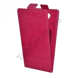 Acer Liquid E700 Trio Tok álló, bőr (FLIP, mágneses, bankkártya tartó, NANOPAD szerű készülék rögzítés) RÓZSASZÍN