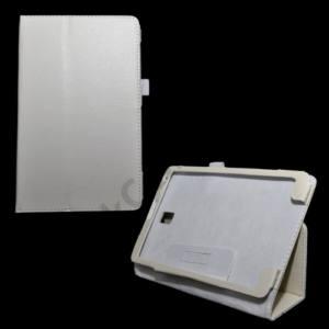 Samsung Galaxy Tab S 8.4 LTE (SM-T705) Tok álló, bőr (FLIP, mágneses, asztali tartó funkció) FEHÉR