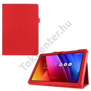 Asus ZenPad 10  Z300C/Z300CL/Z300CG Tok álló, bőr (FLIP, oldalra nyíló, asztali tartó funkció) PIROS