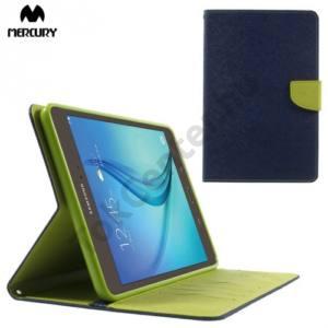 Samsung Galaxy Tab A 8.0 (SM-T350) MERCURY Goospery tok álló, bőr (FLIP, mágneses, oldalra nyíló, bankkártya tartó, asztali tartó funkció) KÉK
