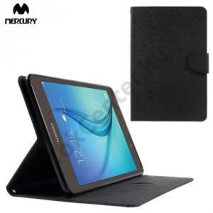Samsung Galaxy Tab A 8.0 (SM-T350) MERCURY Goospery tok álló, bőr (FLIP, mágneses, oldalra nyíló, bankkártya tartó, asztali tartó funkció) FEKETE