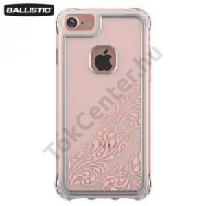 Apple iPhone 6 4.7`` / 6S 4.7`` / iPhone 7 BALLISTIC JEWEL műanyag telefonvédő (szilikon keret, 180 cm-ig ütésálló, buborék minta) ÁTLÁTSZÓ/ARANY