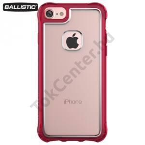 Apple iPhone 6 4.7`` / 6S 4.7`` / iPhone 7 BALLISTIC JEWEL műanyag telefonvédő (szilikon keret, 180 cm-ig ütésálló) ÁTLÁTSZÓ/PIROS