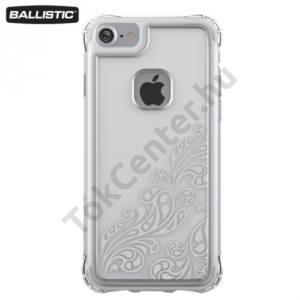 Apple iPhone 6 4.7`` / 6S 4.7`` / iPhone 7 BALLISTIC JEWEL műanyag telefonvédő (szilikon keret, 180 cm-ig ütésálló) ÁTLÁTSZÓ/EZÜST