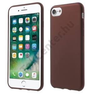 Apple iPhone 7 /APPLE IPhone 8 4,7`` Telefonvédő gumi / szilikon (gumírozott) BORDÓ
