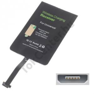Töltő adapter vezeték nélküli töltéshez (alsó microUSB töltőcsatlakozóhoz, fogadóegység, QI Wireless)